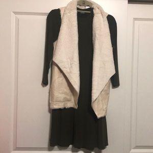 Jackets & Blazers - NWT. Faux suede/fur vest